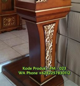 Podium Kayu Ukir Terindah Finishing Natural