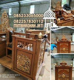 Podium Mimbar Ukiran Termewah Finishing Glossy