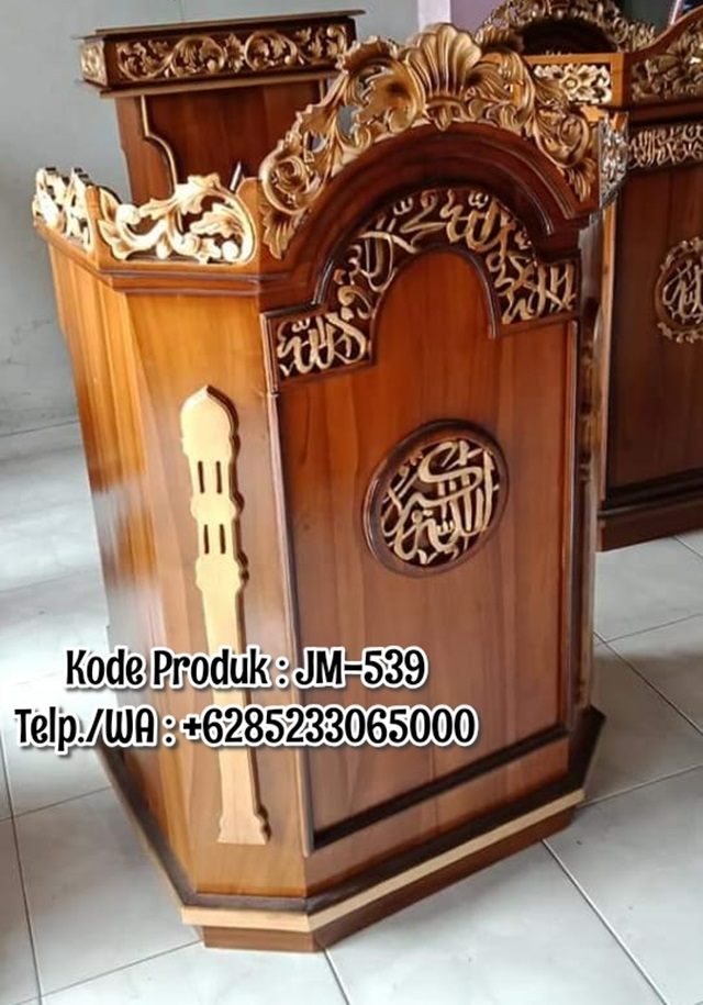 Podium Musholla Ukir Terbaru Finishing Glossy