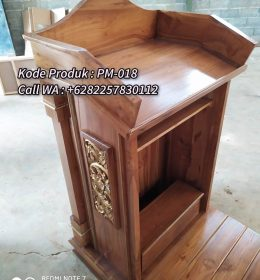 Podium Kayu Minimalis Terindah Finishing Natural