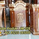 Podium Kayu Ukir Terindah Finishing Antik
