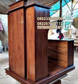 Podium Mimbar Minimalis Terbaru Finishing Antik