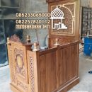 Podium Mimbar Minimalis Termegah Finishing Natural