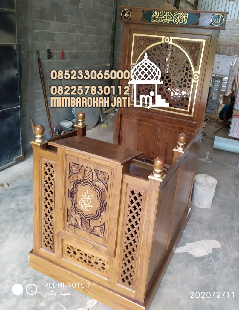 Podium Mimbar Minimalis Termewah Finishing Natural