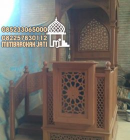 Podium Mimbar Minimalist Termewah Finishing Natural
